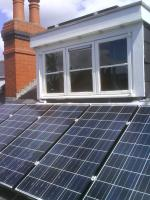 solar pv panels  installation on a roof of a domestic house in Yorkshire